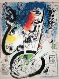 Self Portrait-Frontespiece Premium Edition by Marc Chagall