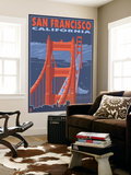 San Francisco, California - Golden Gate Bridge Wall Mural by  Lantern Press