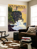 Split Rock Lighthouse - Minnesota Wall Mural by  Lantern Press