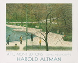 Central Park New York Serigraph by Harold Altman