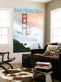 Golden Gate Bridge in Fog - San Francisco, California Wall Mural by  Lantern Press
