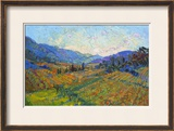 Napa in Color Framed Giclee Print by Erin Hanson