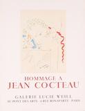 Hommage a Jean Cocteau Serigraph by Jean Cocteau