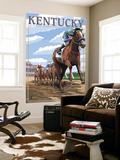 Kentucky - Horse Racing Track Scene Wall Mural by  Lantern Press