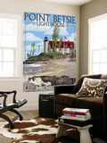Point Betsie Lighthouse, Michigan Wall Mural by  Lantern Press