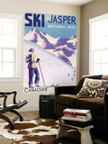 Jasper National Park, Canada - Woman Posing Open Slopes Poster Wall Mural by  Lantern Press