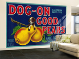 Dog On Good Pears Pear Crate Label - Suisun, CA Wall Mural – Large by  Lantern Press