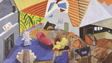 Large Interior, Los Angeles Collectable Print by David Hockney