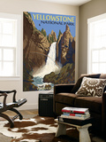Tower Falls - Yellowstone National Park Fototapete von  Lantern Press