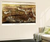 Boston, Massachusetts - Panoramic Map Wall Mural by  Lantern Press