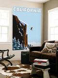 California - Skier Jumping Wall Mural by  Lantern Press
