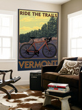 Vermont - Bicycle Scene Wall Mural by  Lantern Press