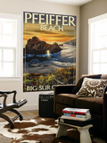 Pfeiffer Beach, California Wall Mural by  Lantern Press