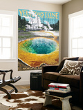 Morning Glory Pool - Yellowstone National Park Wall Mural by  Lantern Press