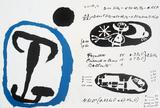 Derriere le Miroir, no. 87-88-89, pg 4,9 Serigraph by Joan Miro