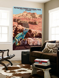 Petrified Forest National Park - Arizona Wall Mural by  Lantern Press