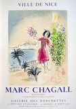 Bay of Nice Serigraph by Marc Chagall