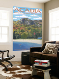 Acadia National Park, Maine - Sand Beach Scene Wall Mural by  Lantern Press