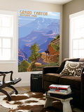 Grand Canyon National Park - Bright Angel Trail Wall Mural by  Lantern Press