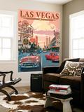 Las Vegas Old Strip Scene Wall Mural by  Lantern Press