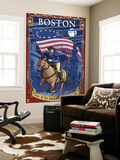 Old North Church and Paul Revere - Boston, MA Wall Mural by  Lantern Press