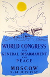 World Congress for General Disarmement and Peace-Moscow Serigraph by Pablo Picasso