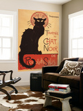 Montmarte, France - Chat Noir Cabaret Troupe Black Cat Promo Poster Veggmaleri av  Lantern Press