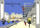 Beaubourg, Paris Serigraph by  Otso