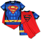 Superman- Sublimated Cape Tee Shirts