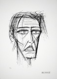 Visage Collectable Print by Bernard Buffet