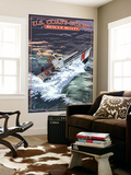 U.S. Coast Guard - 44 Foot Motor Life Boat Wall Mural by  Lantern Press
