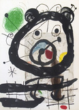 Derriere le Miroir, no. 151-152, pg 28 Serigraph by Joan Miro