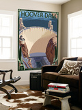 Hoover Dam Aerial Wall Mural by  Lantern Press