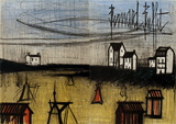 The Small Beach (dyptich) Collectable Print by Bernard Buffet