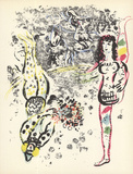 Acrobatics Serigraph by Marc Chagall