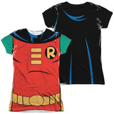 Juniors: Batman The Animated Series- Robin Costume Tee T-shirts