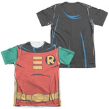 Batman The Animated Series- Robin Uniform (Front/Back) T-Shirt