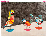 Pretty Bird Zipper Pouch Zipper Pouch