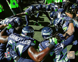 Seattle Seahawks 2015 Huddle Photo