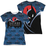 Juniors: Batman The Animated Series- Logo Pattern (Front/Back) Shirts
