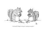 """An almond! I thought we'd agreed—nothing extravagant."" - New Yorker Cartoon Premium Giclee Print by Andrew Hamm"