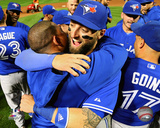 Kevin Pillar celebrates the Blue Jays winning the 2015 American League East Division Photo
