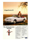1984 Ford Mustang GT 20Th Posters