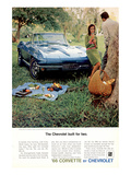 1966 GM Corvette Built for Two Posters
