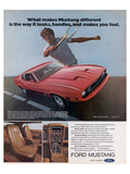 1973 Makes Mustang Different Posters