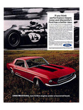 1968 Mustang New 5Litre Engine Prints