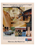 1967 Mercury -Royal New Cougar Posters