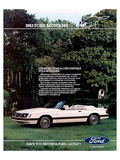 1983 Mustang More Convertible Posters