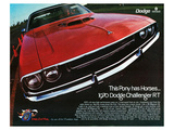 1970 Dodge Charger Rt Red Posters