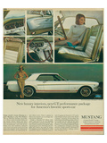 1965 Mustang-Luxury Interiors Poster